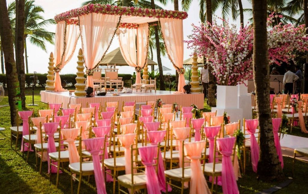 Image result for Pastel color mandap,nari