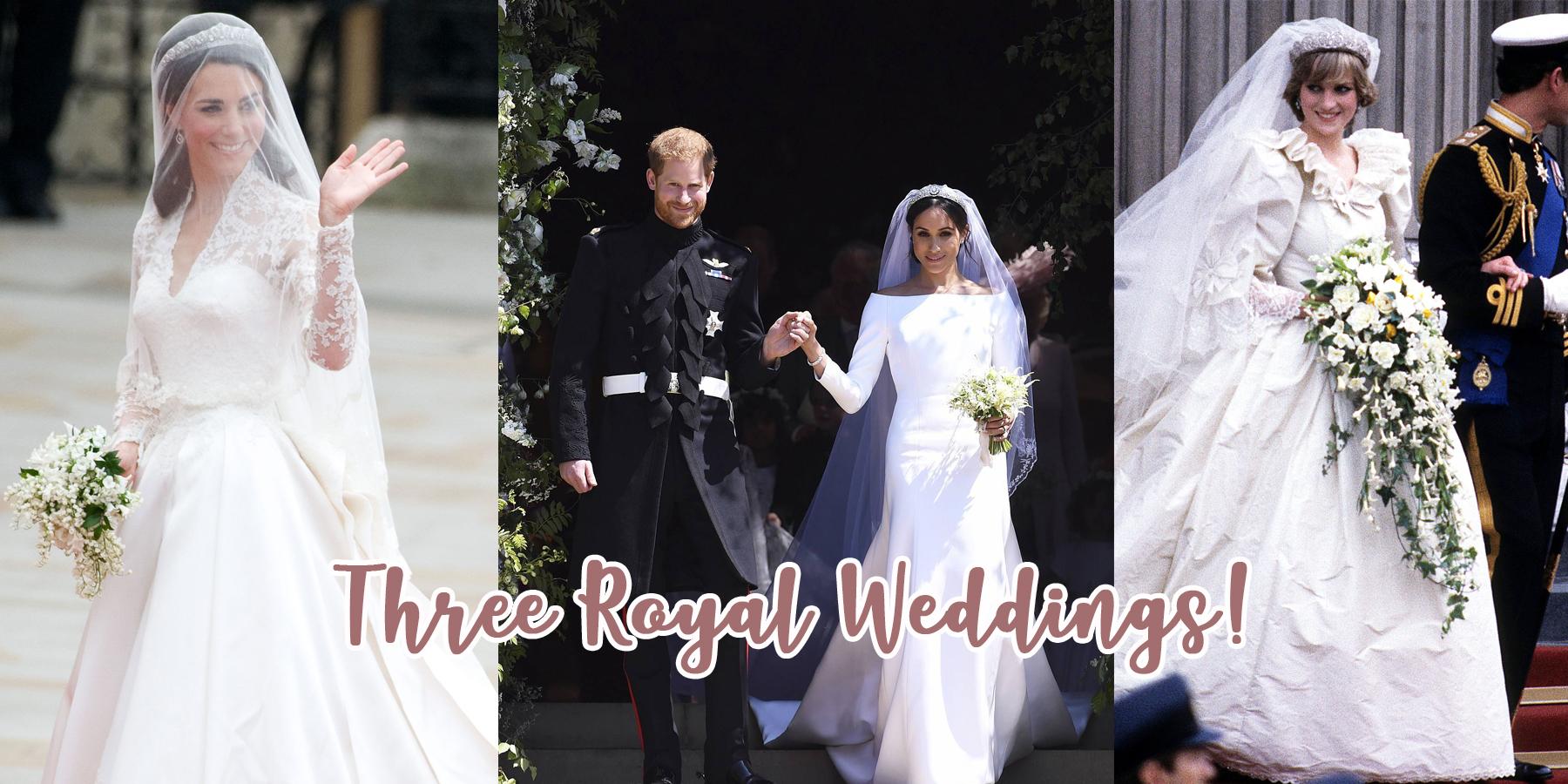 Three Royal Weddings: Years Apart Yet They Look So Similar
