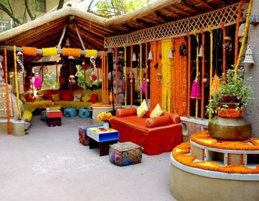 Ajit Bhawan Mehendi Setup