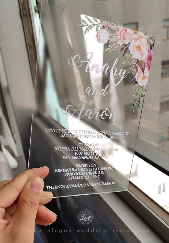 acrylic invite